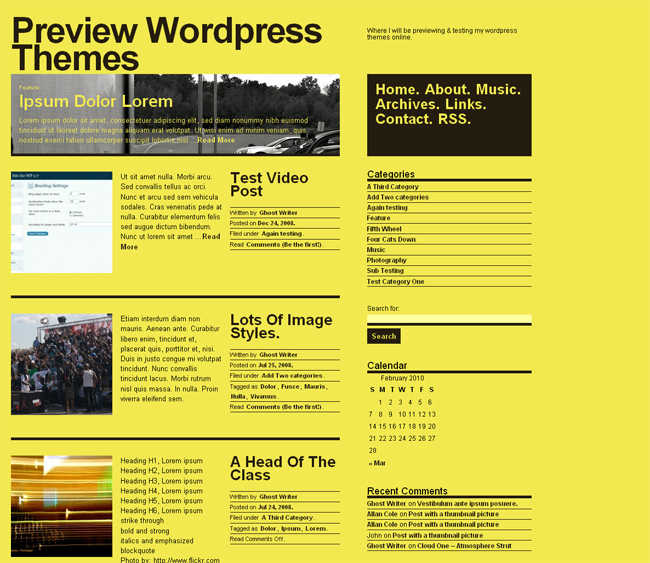 theme2 New Custom Free Wordpress Themes
