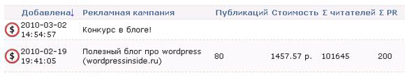 реклама Блогун