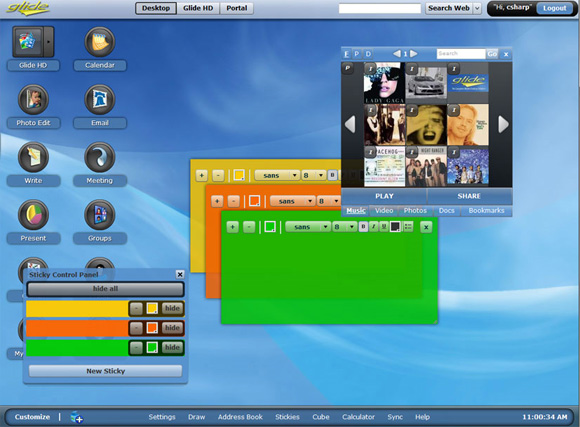 операционная система онлайн glide