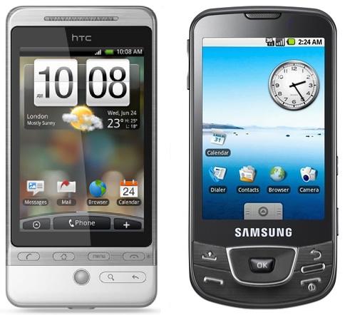 Samsung Galaxy Spica и HTC Hero