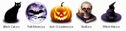 Хеллоуин иконки для рабочего стола