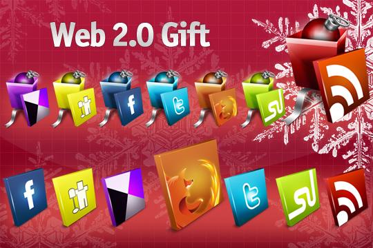 новогодние иконки сервисов и RSS