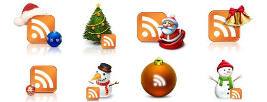 новогодние RSS иконки