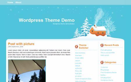 новогодний зимний шаблон для wordpress