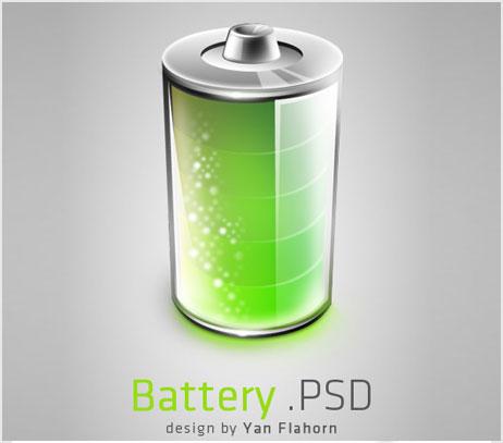 батарейка psd изображение