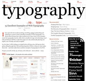 типографика для сайта