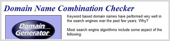 Domain Name Combination Checker
