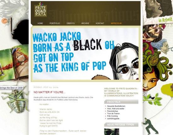 оригинальный дизайн блога