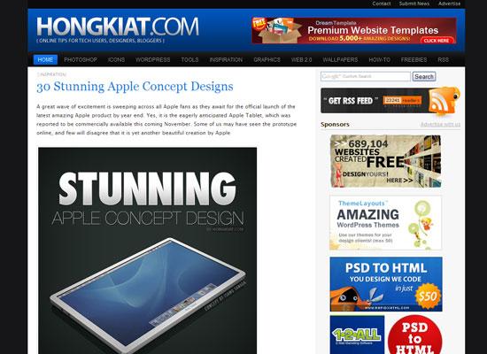 Hongkiat's Design Weblog блог дизайн