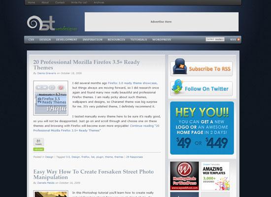 1st Web Designer дизайнерский блог