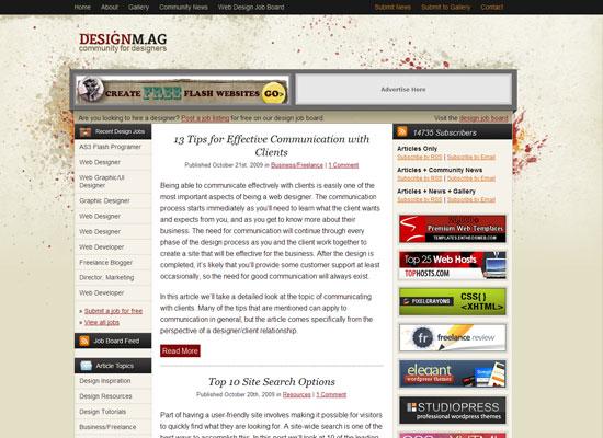 Designm.ag блог о веб дизайне