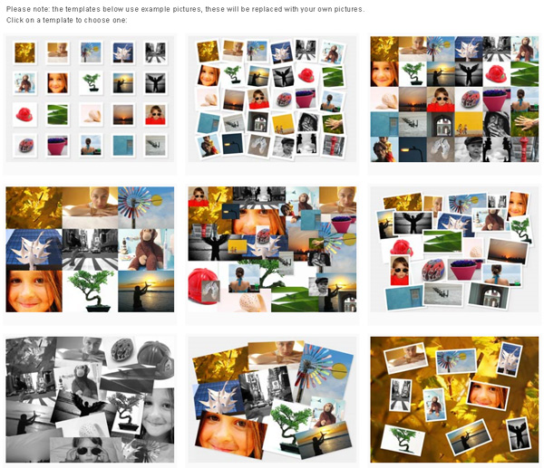 Photovisi - создание коллажа онлайн