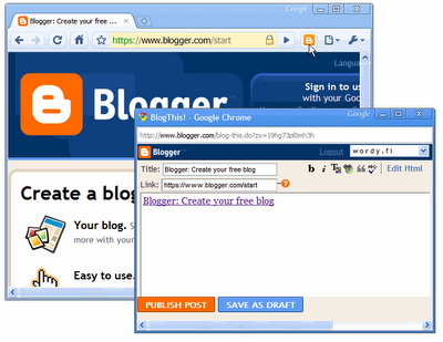 BlogThis! Chrome extension