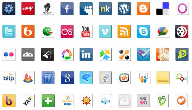 иконки социальных сервисов