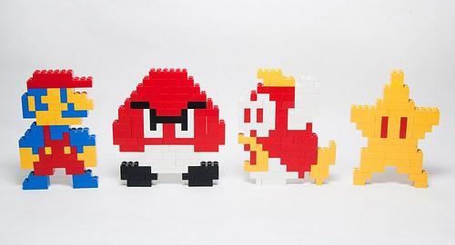 pixel art марио