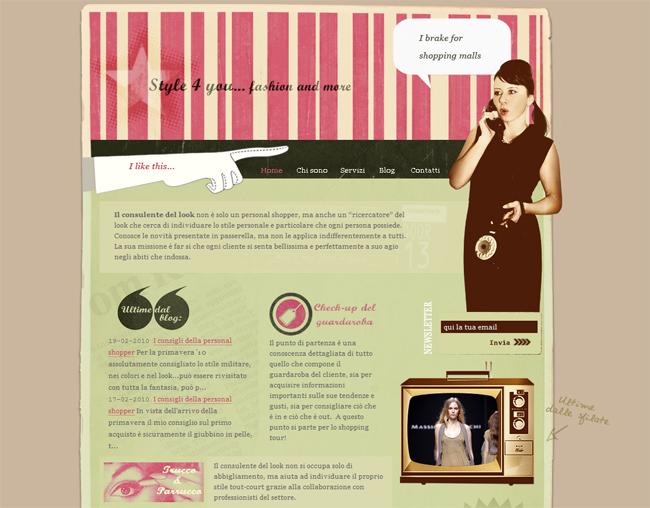ретро стиль веб дизайн