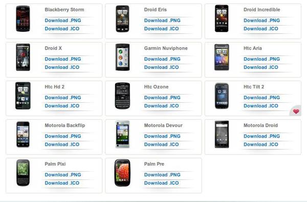 иконки мобильных телефонов