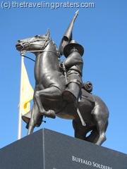 Statue atop Buffalo Soldier Memorial