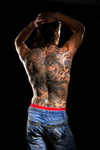 male back tattoo