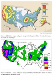 Earthquake damage maps