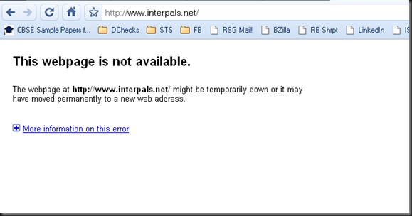 Interpals.net - Not able to login. Site is down.