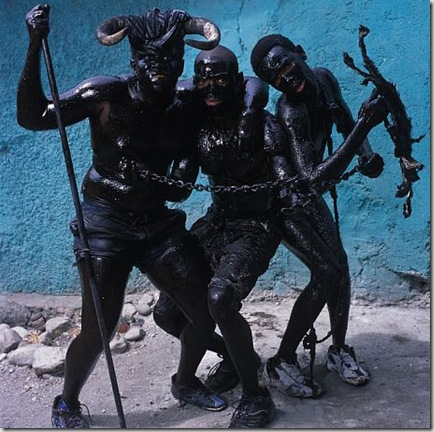 Three Men with Chains, Jacmel, Haiti, 2004
