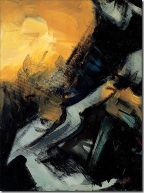 Il principio, olio su tela, cm 80x60, 1985