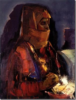 Ragazza orgolese, olio su tela, cm 60x80, 1970 (coll. fam. Zodda, Bultei)