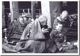 Con un piccolo visitatore Lhasa 1986