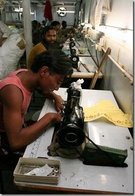 Garment manufacture, Dharavi Slum, Mumbai