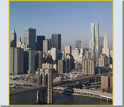 Beekman Tower, New York. Il complesso residenziale progettato da Gehry rappresenta uno dei segnali della rinascita dopo l'11 settembre