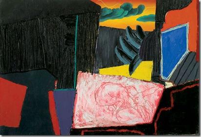 Oriente, 2002 olio su tela, 120 x 180 cm