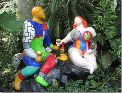 This digital photo is of a work of art titled Adam and Eva by Nikki de Saint Phalle