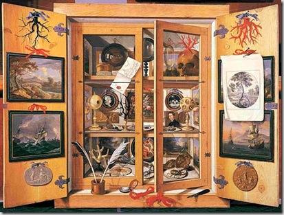 Domenico Remps -attivo nella seconda metà del XVII secolo- Scarabattolo II metà del XVII secolo Dipinto su tela, cm 99 x 137 Firenze, Museo dell'Opificio delle Pietre Dure