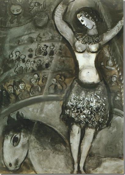 Marc Chagall, L'écuyère, 1955 © by SIAE 2009