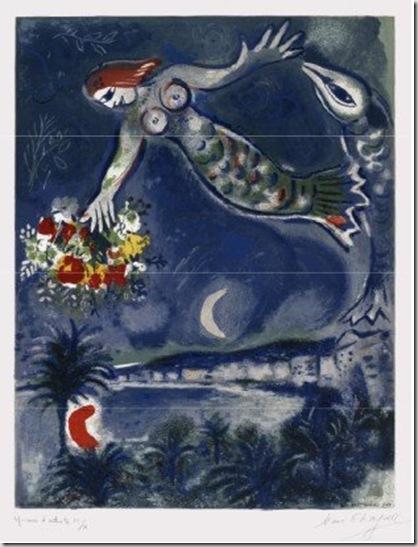 Marc Chagall, Sirène et poisson, 1956-1960 © by SIAE 2009