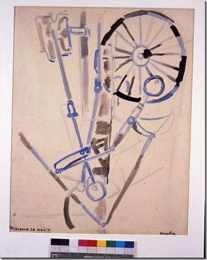 Francis Picabia, Etude pour la Novia, 1916-1917