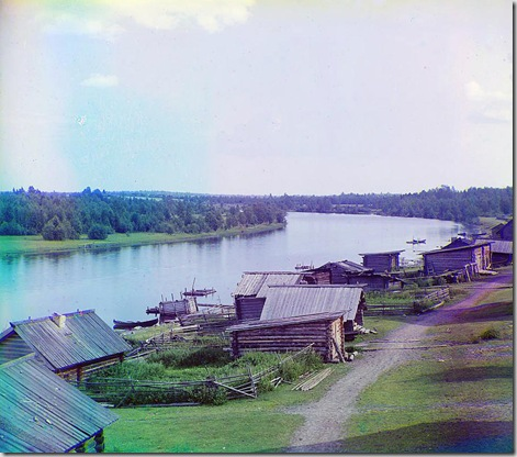 Shuia River; 1915 Sergei Mikhailovich Prokudin-Gorskii Collection (Library of Congress).