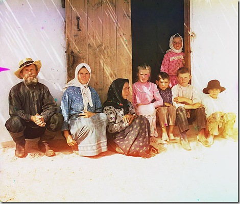 Mugan, Settler's family, Settlement of Grafovka; between 1905 and 1915 Sergei Mikhailovich Prokudin-Gorskii Collection (Library of Congress).