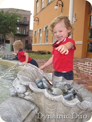 fountain fun - rals big smile!