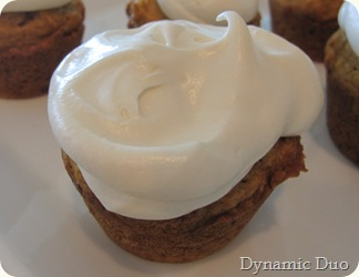 pumpkin muffin with cream cheese frosting!!!
