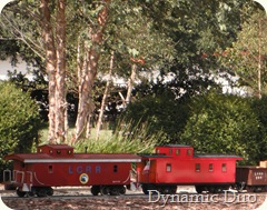 tiny red trains