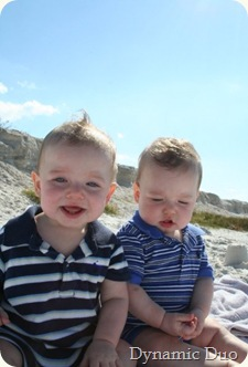 Raleigh & Augustus at the beach