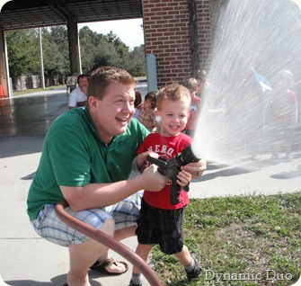gus and daddy at hose, having too much fun (3)