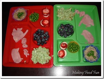 cat, fish, green eggs, ham, dr. seuss hats, birds nest with 'green' eggs, aka peas