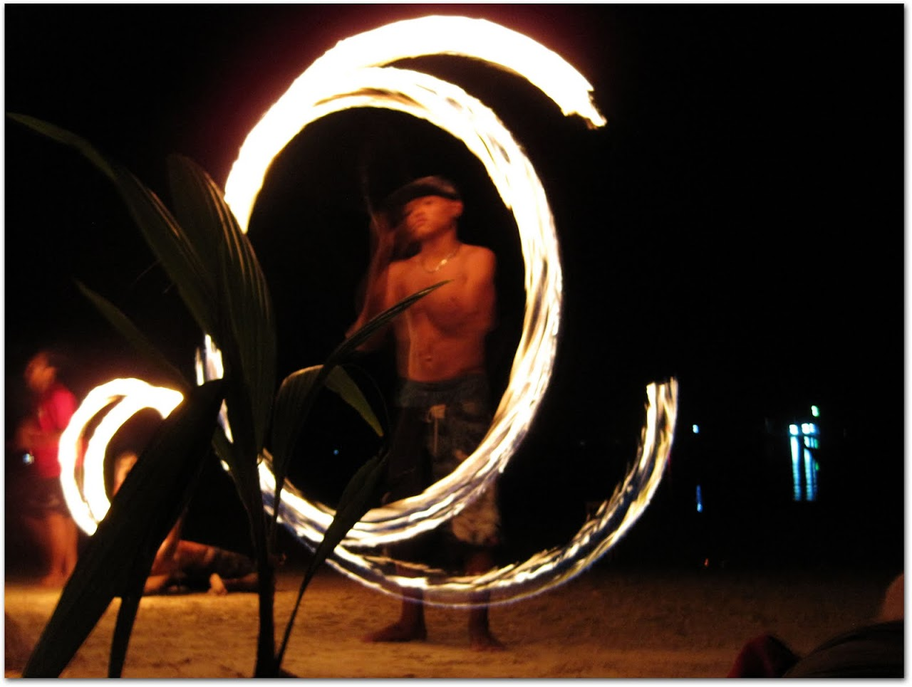 Fire dancers at Koh Tao