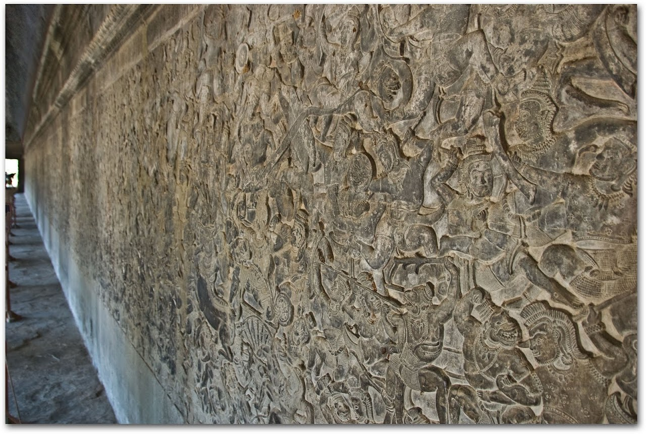 Bas-relief at Angkor Wat
