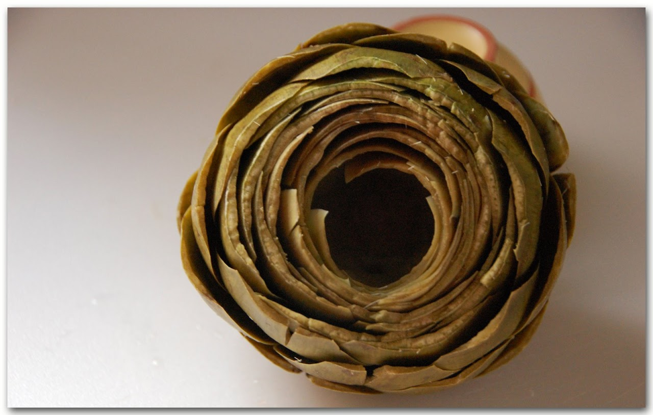 Hollowed artichoke