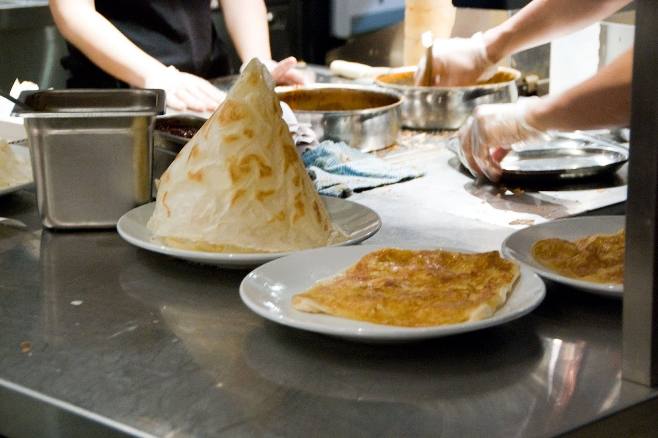 Roti tisu at Mamak