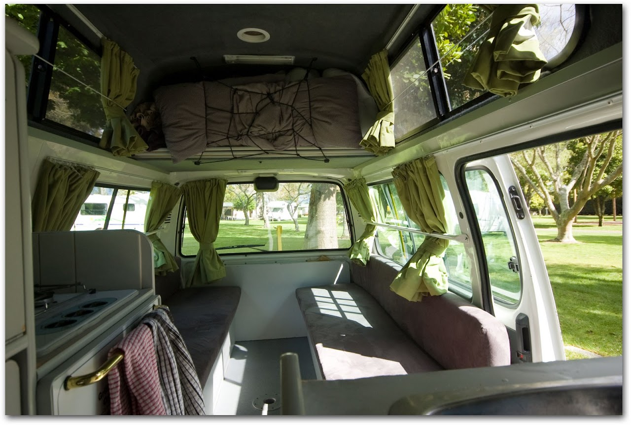Interior of Franz Exploremore Campervan
